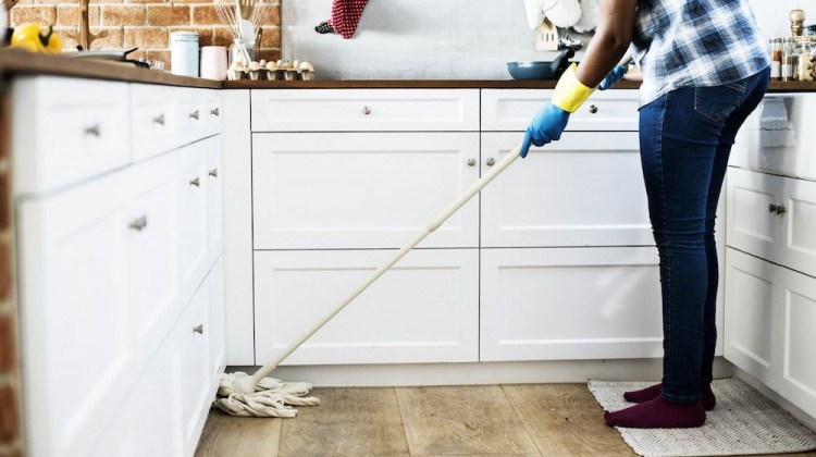 An Indonesian girl is required to clean the house